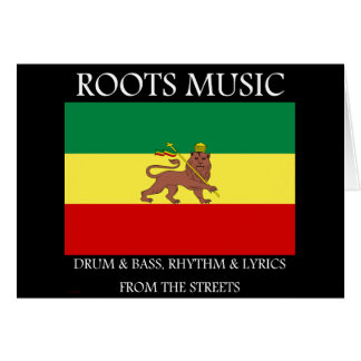 Rasta - Roots Music Ethiopia Flag Lion of Judah Card