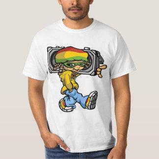Rasta servant boy radio with tee shirts