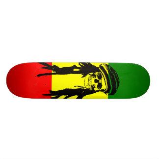 Rasta Skull Skateboard