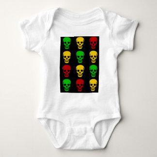 Rasta Skulls Baby Bodysuit