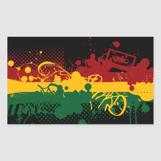 Rasta Soul Rectangular Sticker