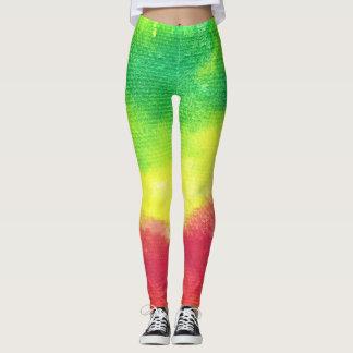 Rasta Splatter Texture Leggings Yoga Pants