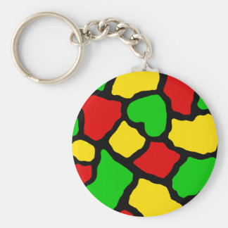 Rasta Spots Keychains
