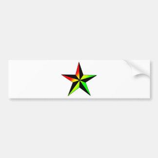 Rasta Star Bumper Sticker