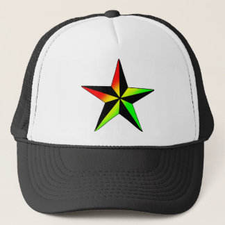 Rasta Star Trucker Hat