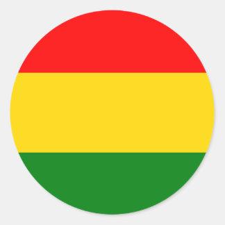 Rasta Round Sticker