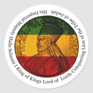 Rasta Sticker Conquering Lion of Judah His Majesty