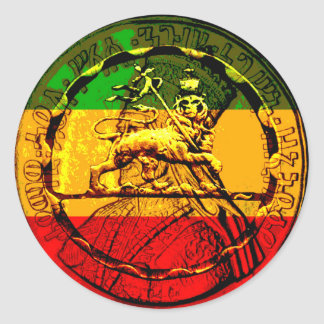 Rasta Sticker Lion King of Judah
