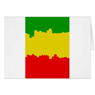 Rasta Stripes Design Card