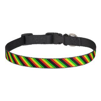 Rasta Stripes Dog Collar