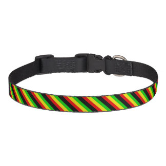 Rasta Stripes Pet Collar