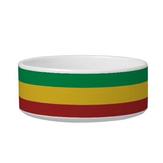 Rasta Stripes Pet Food Bowl