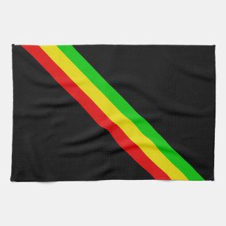 Rasta Stripes Tea Towel