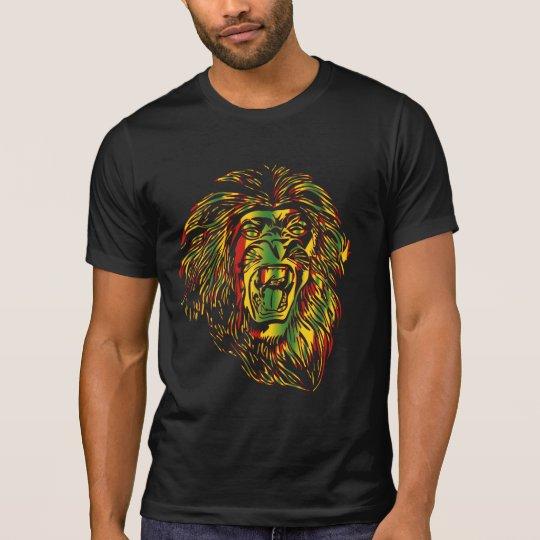 Rasta T-shirt Lion Reggae Colours