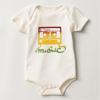 rasta tape reggae baby bodysuit