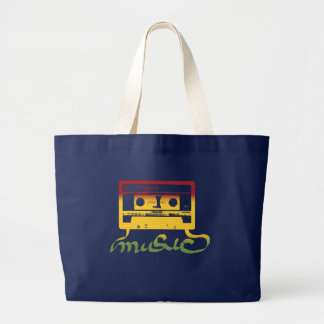 rasta tape reggae large tote bag