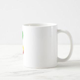 Rasta Treble Clef Basic White Mug