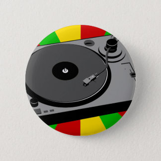 Rasta Turntable 6 Cm Round Badge
