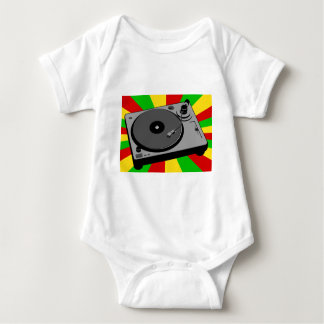 Rasta Turntable Baby Bodysuit