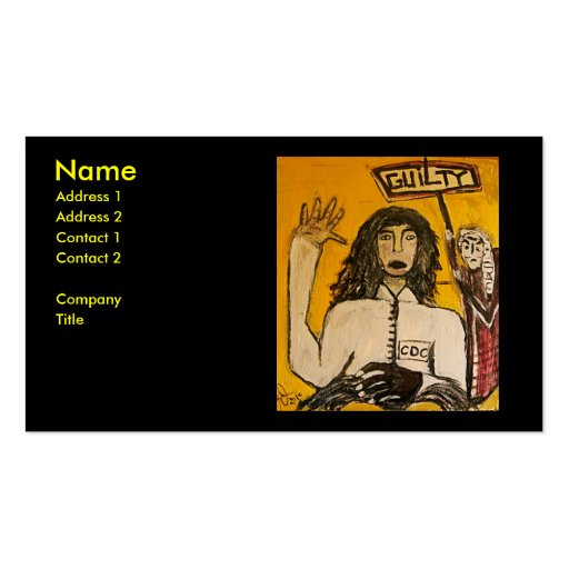 RASTA WITCH TRIALS GUILTY BUSINESS CARD TEMPLATE