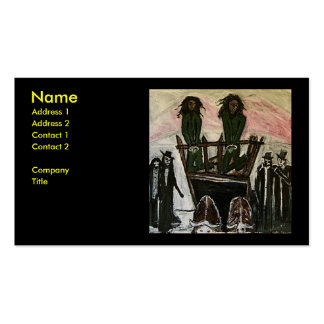 RASTA WITCH TRIALS PACK OF STANDARD BUSINESS CARDS