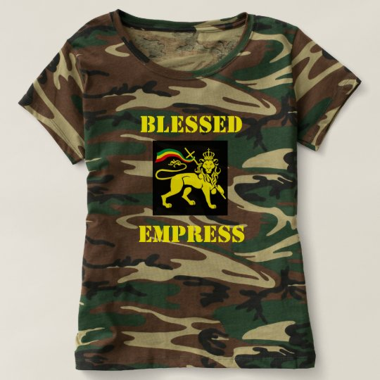 Rasta Womans Army T-shirt: Blessed Empress T-Shirt