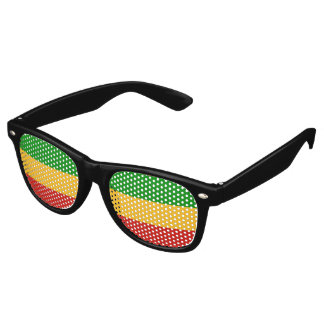 RASTAFARI FLAG COLORS + your ideas Retro Sunglasses