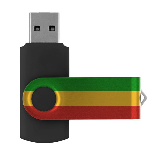 RASTAFARI FLAG COLORS + your ideas USB Flash