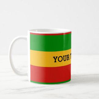 RASTAFARI FLAG COLORS + your text Mugs