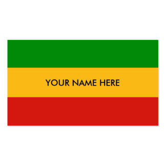 RASTAFARI FLAG COLORS + your text Pack Of Standard Business Cards