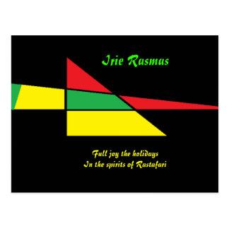 Rastafari greeting cards-irie rasmas postcard
