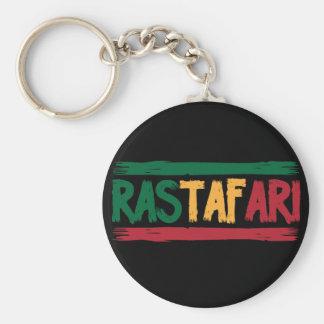 Rastafari Basic Round Button Key Ring