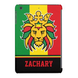 Rastafari Lion of Judah Personalized Name iPad Mini Retina Cover