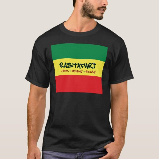 Rastafari Lives Reigns Rules Shirt