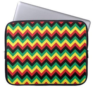 Rastafarian Chevron Laptop Computer Sleeve