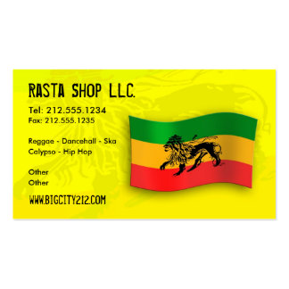 Rastafarian Editable Business Card