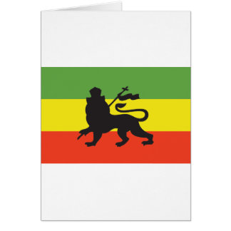 Rastafarian Flag Card