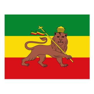 Rastafarian Flag of Ethiopia Lion of Judah Postcard