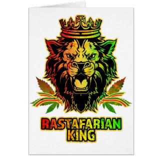 Rastafarian King Lion Card