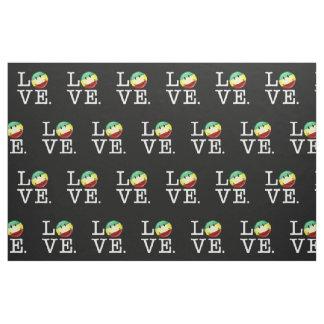 Rastafarian Love Happy Rasta Flag Fabric