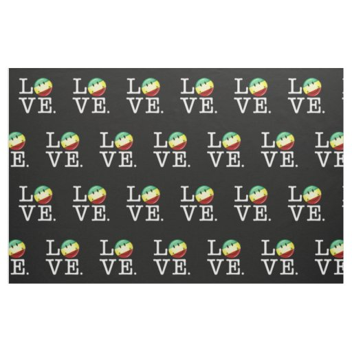 Rastafarian Love Happy Rasta Flag Fabric