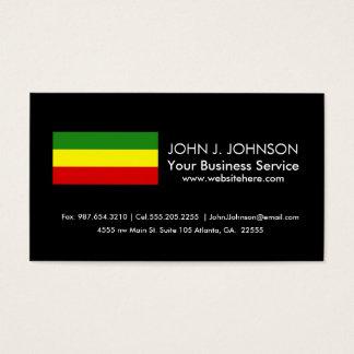 Rastafarian Pride Flag Business Card