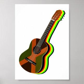 Rastafarian Reggae Guitar Jamaica Poster