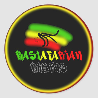 Rastarfarian Rights Logo Round Sticker