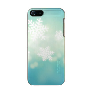 Raster illustration of glowing snowflakes incipio feather® shine iPhone 5 case