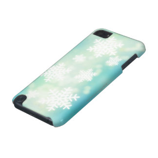 Raster illustration of glowing snowflakes iPod touch 5G case