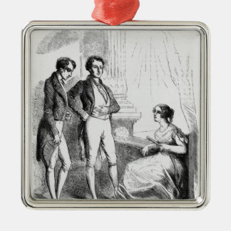 Rastignac introduced to Madame de Nucingen Christmas Ornament