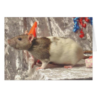 Rat B-day card