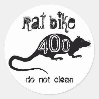 rat bike 400 - do not clean classic round sticker