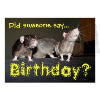 rat birthday card card
